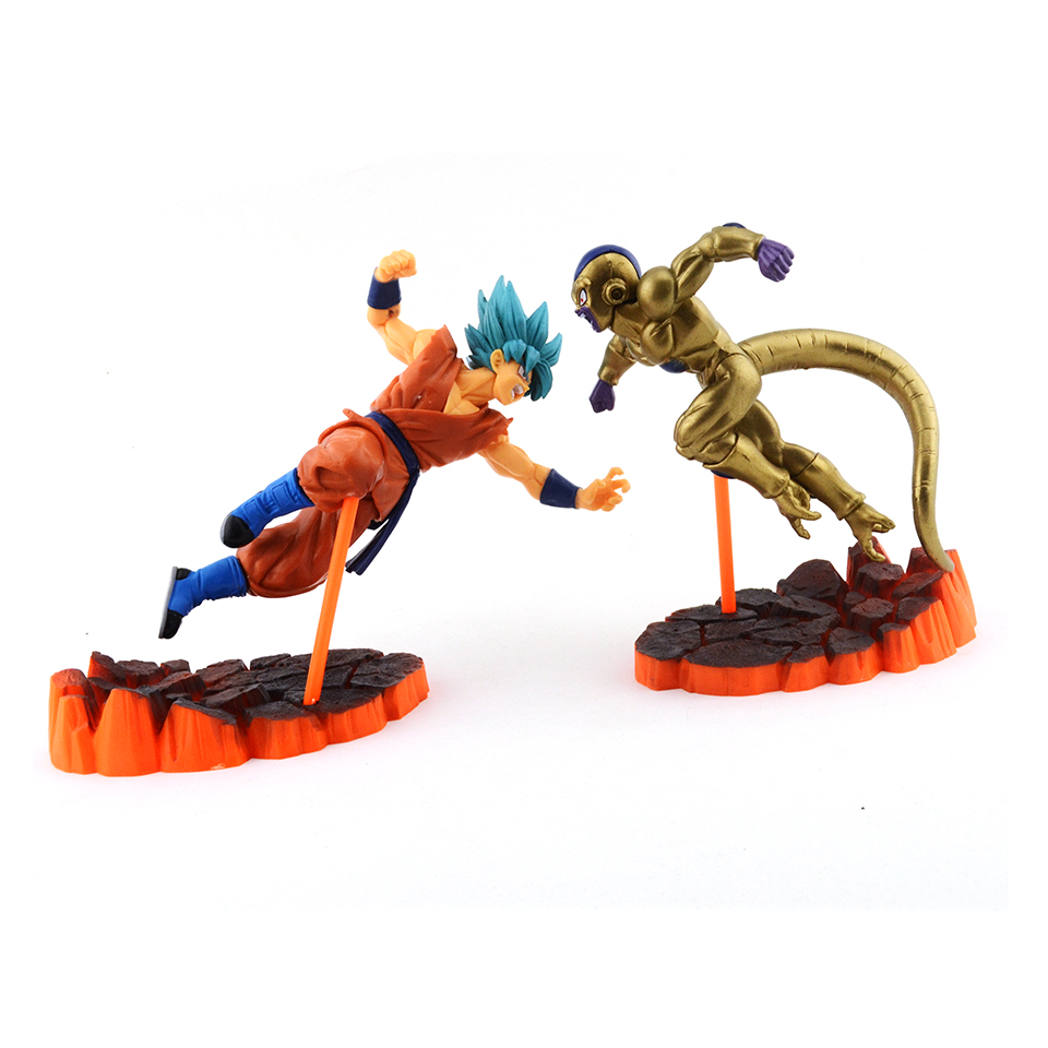 2018 New Anime Figure Dragon Ball Super Action Figures Son Goku Gold Freeza Collectible Brinquedos Model Doll Kids Toys For Boys mr froger super hero collectible superhero action figures set toys for children model figuras figurine anime toy kids gift diy