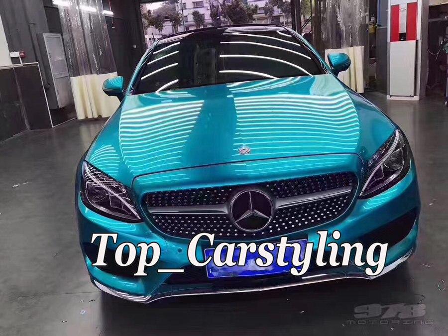 Galaxy bleu Brillant Métallique De Voiture Wrap VINYL Styling Avec Air Livraison voiture Entière Couvrant Graphique foile PROTWRAPS 1.52x20 m/Rouleau 5x67ft