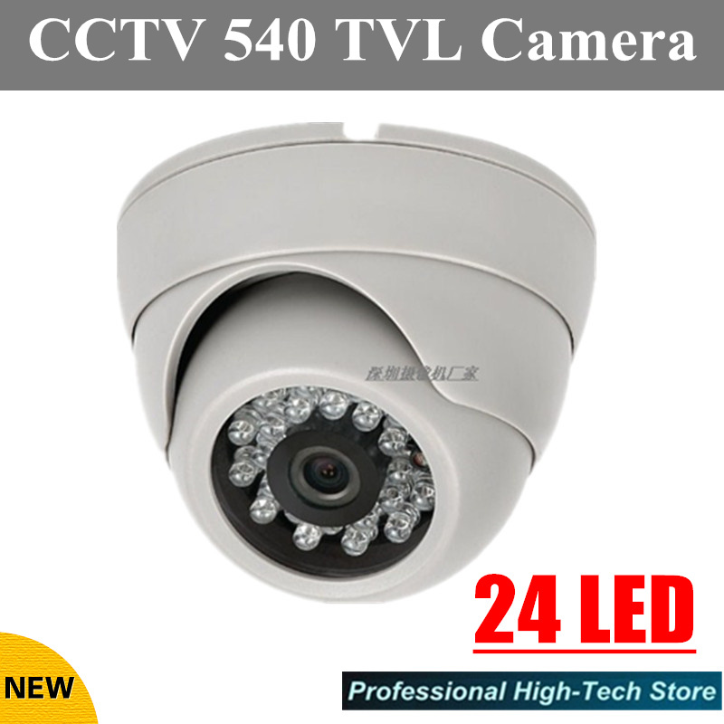 720P Indoor Video Surveillance Dome Camera HD 540 TVL 24 leds Home CCTV Security Camera System