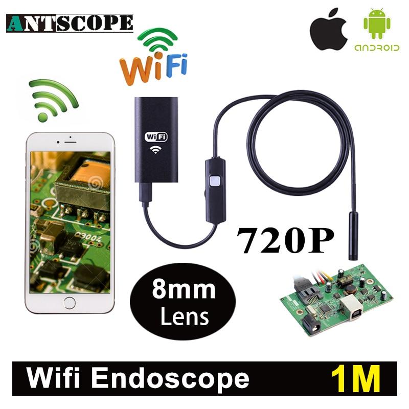 Antscope Wifi Iphone Endoscope Camera 1M Android Iphone Boroscope 720P Camera Endoscopio Android iOS Borescope Camera детская игрушка new wifi ios
