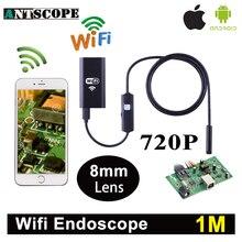 Antscope Wi-Fi iphone эндоскопа Камера 1 м Android IPhone boroscope 720 P Камера endoscopio Android IOS бороскоп Камера