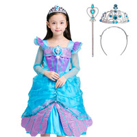Spring Summer Kids Dresses for Girls Wedding Mermaid Fancy Dress Princess Party Dress for Girls Costumes 3 6 7 8 9 10 Years