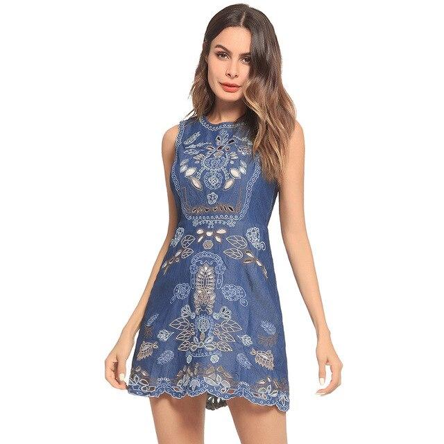 5422e868264 2018 Plus Size Ukraine Zanzea Summer Dress Europe And New Ebay Explosion  Perspective Hollowed Slippery Skinny Jeans Sleeveless
