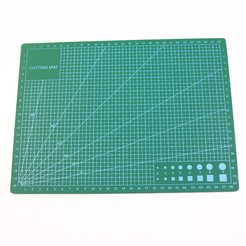 Multi-Function Cutting Plastic Plate 30 * 22 Cm * 3 Mm Metric Foot / Engineering Drawings Ruler And Office Patchwork