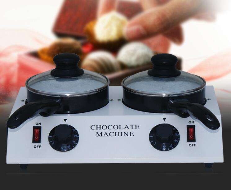 Free shipping 110v 220-230v 2 Pots Chocolate melting machine; Chocolate melting pot Free shipping 110v 220-230v 2 Pots Chocolate melting machine; Chocolate melting pot