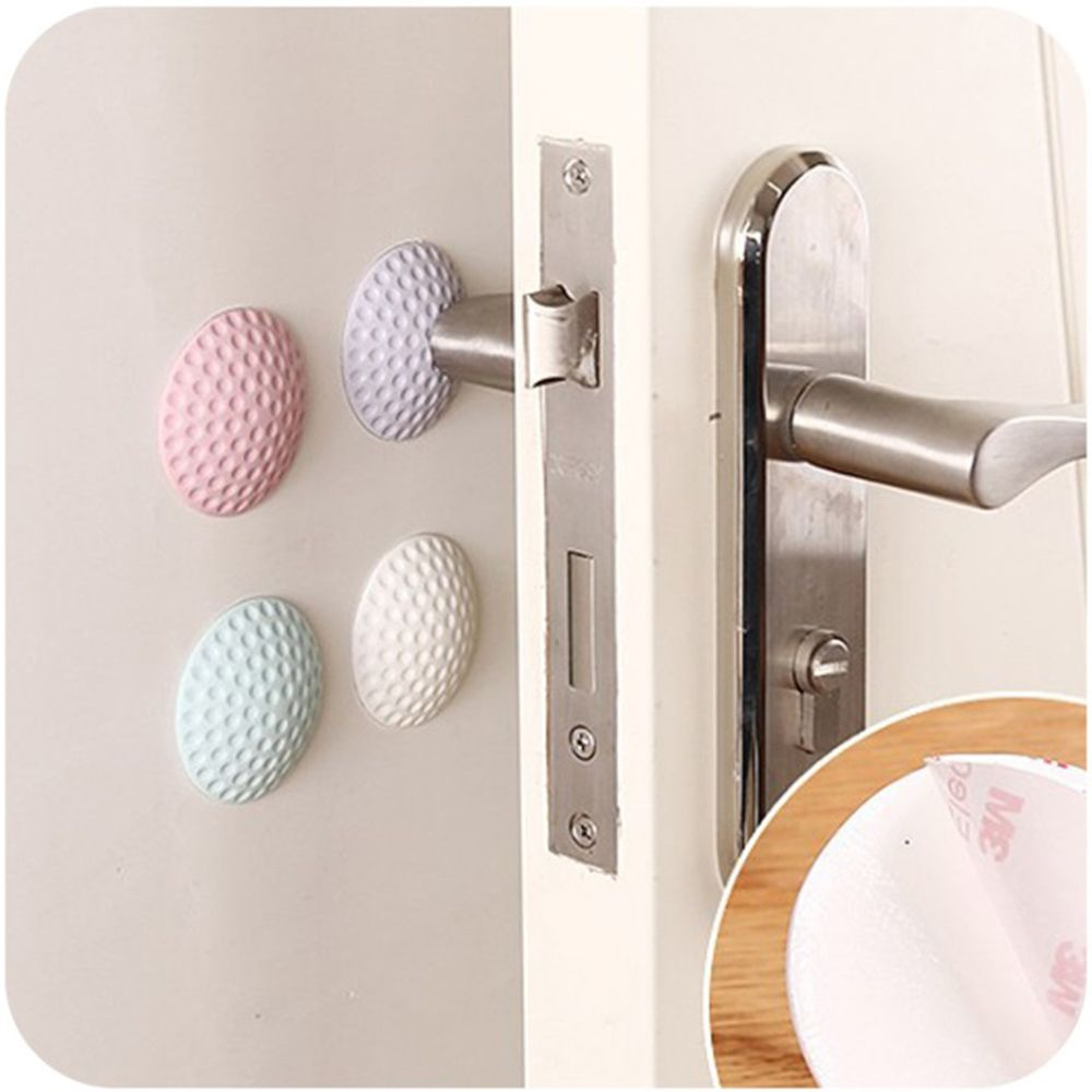 2pcs/lot Wall Thickening Mute Golf Modelling Rubber Fender The Handle Door Lock Protective Pad Protection