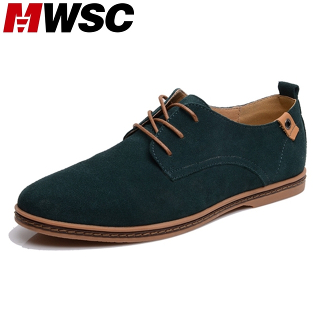 MWSC Fashion Round Toe Soft Suede Leather Men Casual Shoes
