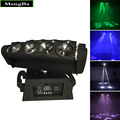 2pcs/lot Fast Shipping 8x10W 4IN1 RGBW Led Spider Moving Head Beam Light DMX Led Spider Light Spider led DJ/Party/Wedding Light
