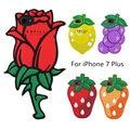 Fruta Morango dos desenhos animados 3D Rose Flor Silicone Suave Case Capa Para iphone 7 plus 6 6 s além de uvas bonito lemon caso de telefone presente