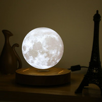 3D levitating moon lamp magnetic lamps wood night light levitation 10cm Rotating Table Romantic Lights decoration Dropshipping