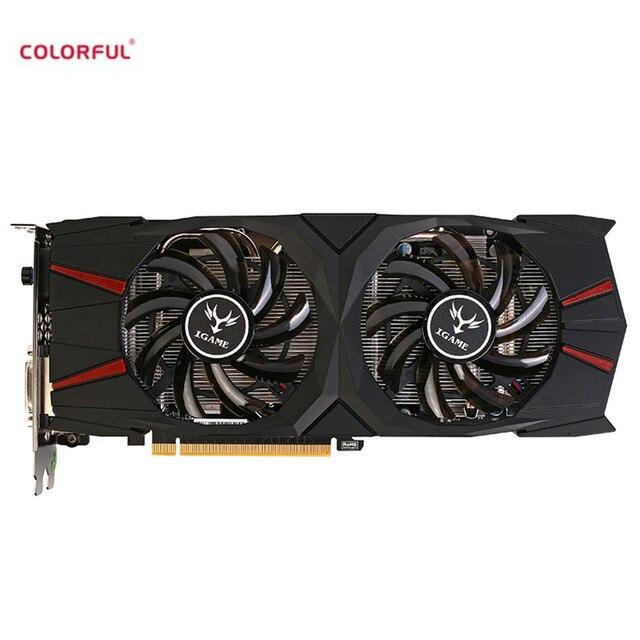 Colorido iGame GTX GeForce 1060 Vulcan U 6G Video Graphics Cartão 192bit GDDR5 PCI-E X16 3.0 2 Fãs Placa Gráfica DVI + HDMI + DP