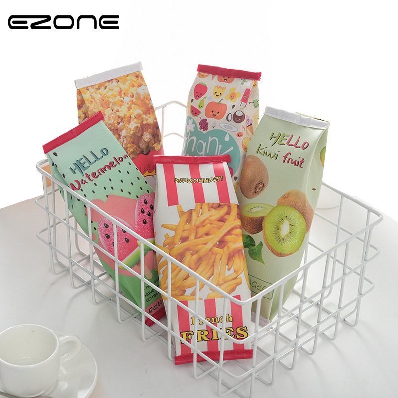 EZONE 1pc/Set Kawaii Biscuit Waterproof Pencil Cases Creative Delicious Food Design Pencil Bag Office School Supplies Stationery new arrival office school supplies pencil box wood pencil cases unique design wooden pencil cases b034