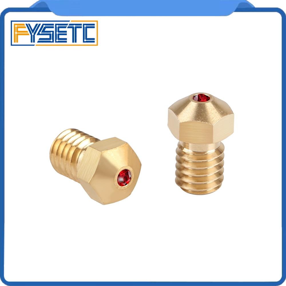 High Temperature E3D Ruby Nozzle V6 1 75mm Nozzles 0 4mm Compatible PETG ABS PET PEEK