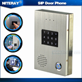 SIP Door Phone with Touch Keypad , Door Intercom Bell for Gates, Door Intercom with RFID Function