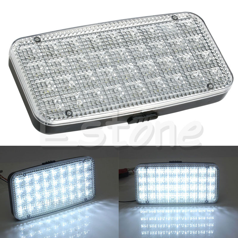 DC 12V 36 LED Car Truck Vehicle Auto Dome Roof Ceiling Interior Light Lamp autoleader 24 led roof ceiling interior reading dome light for camper car rv boat trailer 12v porch light rectangle clear amber