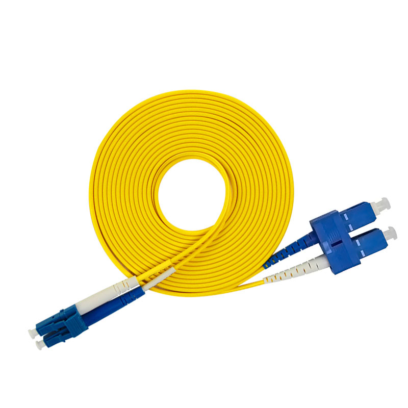SC To LC Single-mode Optical Fiber Patch Cord SM SC/LC Fiber Jumper Cabel Duplex 9/125 UPC Polish OFNR 3m 5m 10m 15m