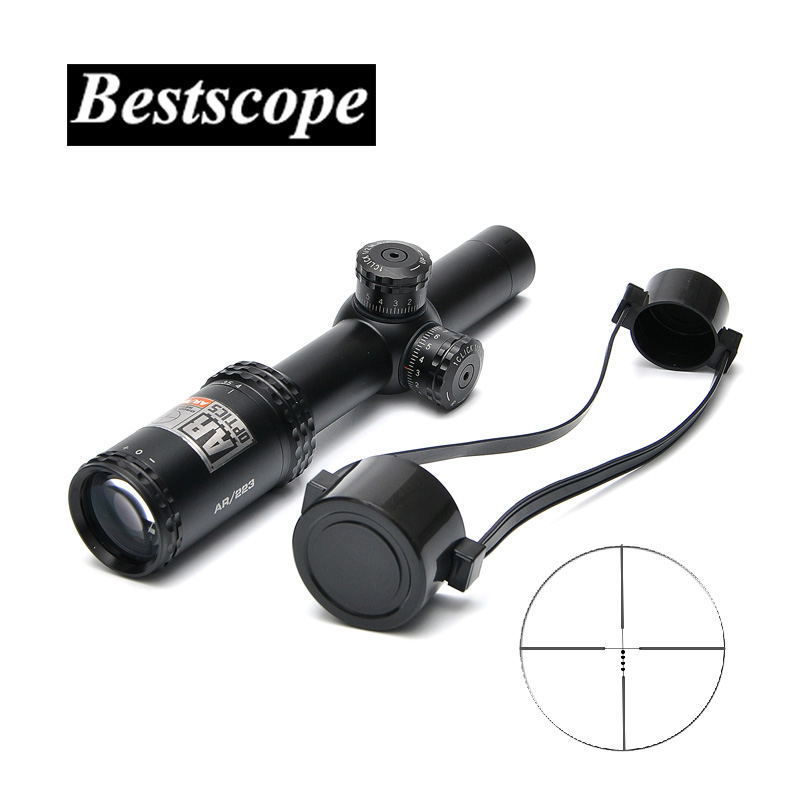 Bushnell 1-4x 24mm AR Optics Drop Zone-223 Reticle Riflescope with Target Turrets Tactical Sniper Scopes Hunting Scope