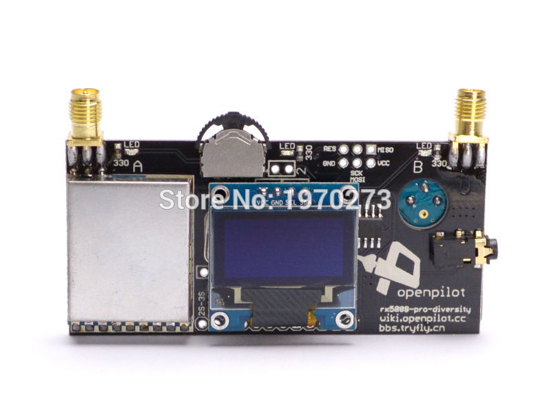 rx5808 pro rozmanitost - FPV 5.8G 40CH RX5808 Pro Diversity FPV Receiver with OLED Display DIY Part For FPV Racing Quadcopter