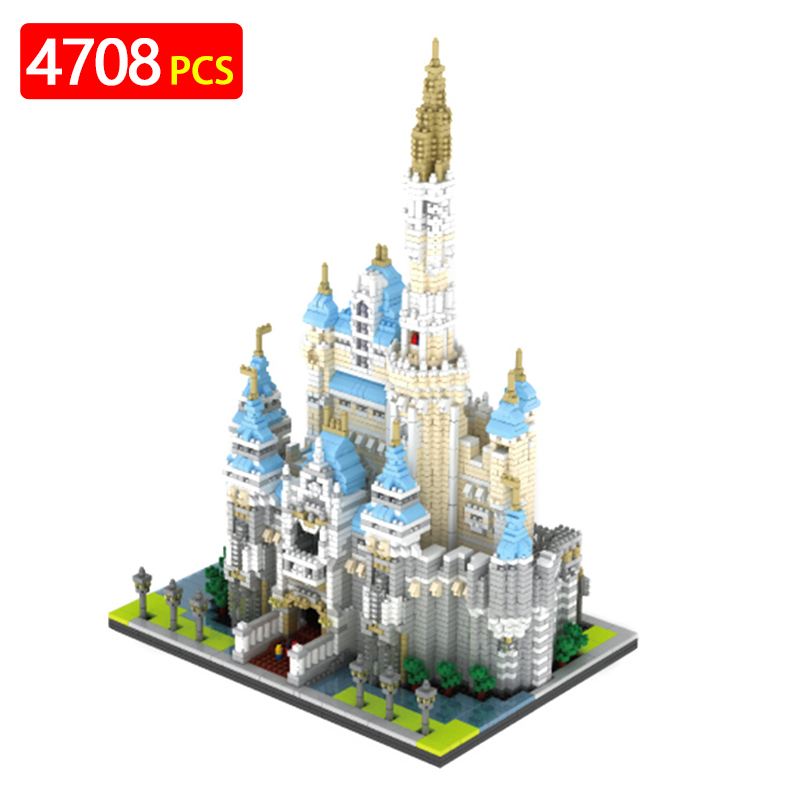 Cartoon Fort Building Blocks Kits Educational Children Compatible LegoINGLYS architecture house Enlighten Castle Toys Gift creators building blocks dragon knight set compatible legoinglys harry potte castle magic architecture toys for children