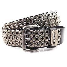 2016  Metal Pin Buckle Rivet Leather Belt Retro Personality Metrosexual Punk Men Wide Belt Genuine Leather Luxury Belt