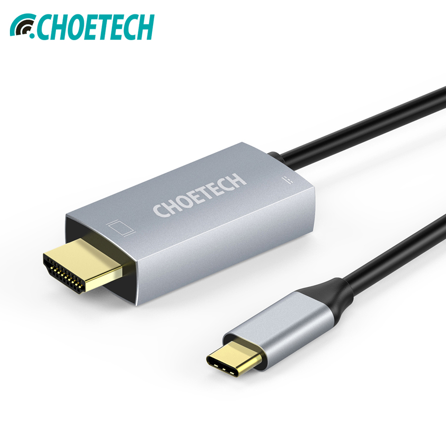 CHOETECH USB 3.1 Type-C to HDMI Cable Adapter Thunderbolt 3 Compatible With 60W PD Charging Port For Macbook Galaxy S9 Note 8CHOETECH USB 3.1 Type-C to HDMI Cable Adapter Thunderbolt 3 Compatible With 60W PD Charging Port For Macbook Galaxy S9 Note 8