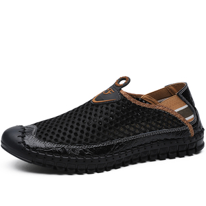 Image 3 - New Mens Casual Shoes Summer Breathable Mesh Mens Shoes Men Fashion Loafers Soft Comfortable Flats Zapatos Hombre  Size 38 48
