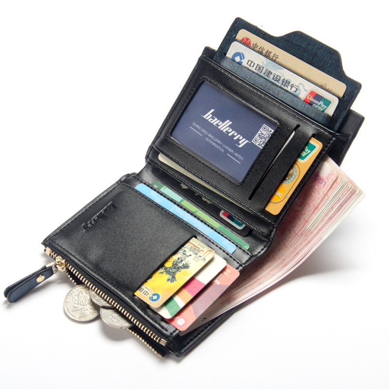2018 latest baellerry mens short multi-function card wallet youth multi-card bit leisure wallet drivers license package822