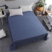 Soft Flat Sheet cotton BedSheets bed cover set geometric plaid solid Bed Linens drap de lit college dorm sabanas de algodon