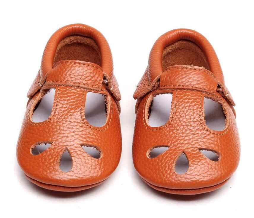 e1b048456cdc 2019 high quality Genuine Leather Hollow Water Drops style Baby Moccasins  Soft Sole Baby Boys Girls