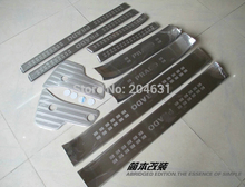 High quality for Toyota PRADO FJ150 Land Cruiser stainless steel inner + outer door sill scuff plate 14pcs/set