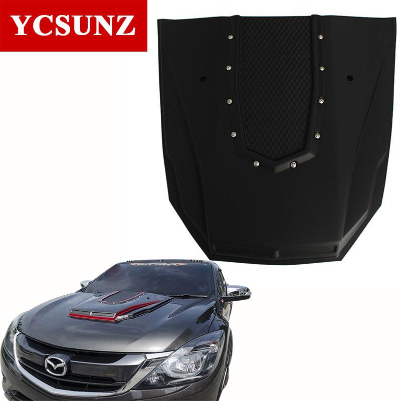 2012-2017 Bonnet Scoop Hood For Mazda Bt50 2016 Black Raptor Bonnet Hood For Mazda Bt50 2013 2014 2015 Ycsunz carbon fiber hood scoop fit for 2001 2002 mitsubishi evolution evo 7 bonnet hood scoop