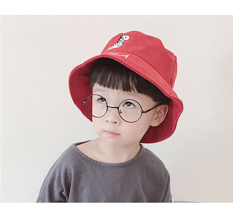 Children fisherman hat basin hat spring and autumn Korean version of thin sun hat baby summer hat in Hats Caps from Mother Kids