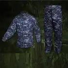 Мужская Военная армейская форма NWU морской цифровой камуфляж супер линкор стиль тактическая Боевая куртка брюки карго костюм CS