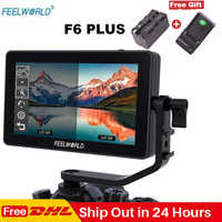 Feelworld F6 Plus 5.5 Inch Touch Screen On Camera Monitor 1920*1080P 3D LUT 4K HDMI Video Filmmaking Monitor for DSLR Gimbal