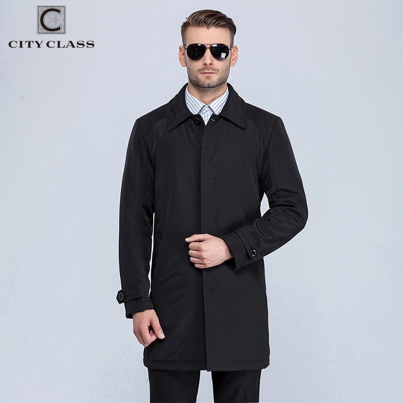VILLE CLASSE Nouveau Hommes Automne Manteaux De Mode Casual Classique Trenchs Fit Turn-down Collar Vestes Manteaux Livraison Gratuite Pour mâle 1061-1 - 4
