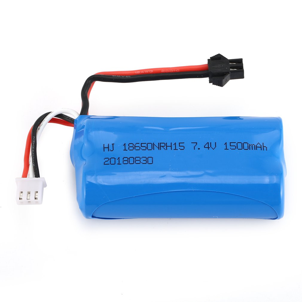 7.4V 1500mAh SM Plug Rechargeable Li-ion Battery for RC Boat Skytech H100 Syma Q1 Spare Parts Accessories Component