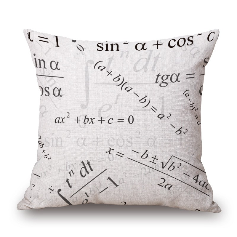 18'' Square Math Formula Cushion covers Science Chemistry Throw Pillow Covers Decorative Pillow Cases Customized Drop Shipping 14
