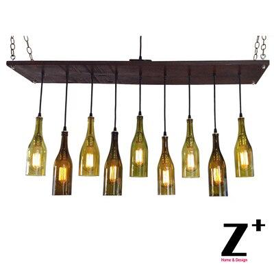 9 wine bottle chandelier industrial lights vintage 9 edison bulbs 9 wine bottle chandelier industrial lights vintage 9 edison bulbs chandelier lamp suspension coffee bar wood aloadofball Gallery