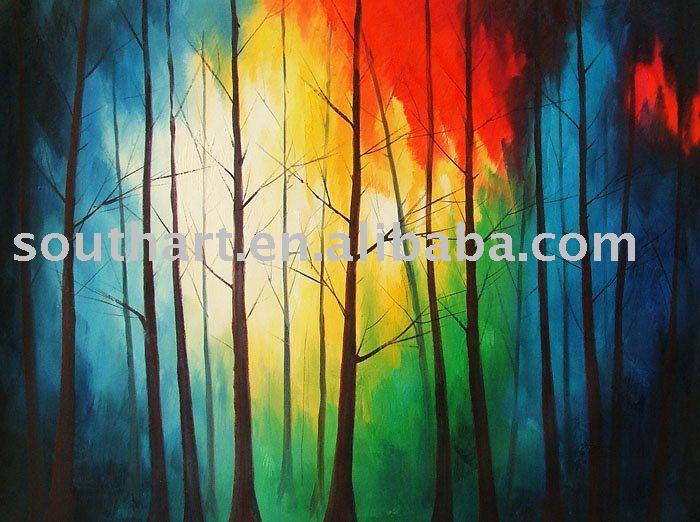 Abstract Trees Oil Painting Decorative Cakeoil London Aliexpress