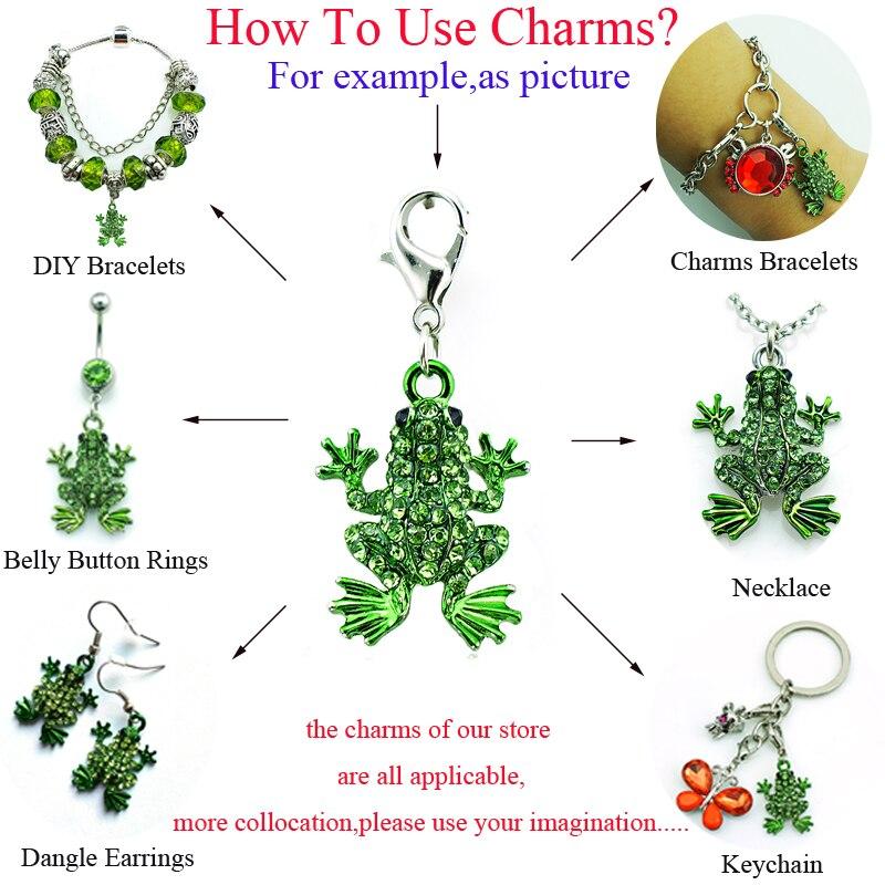 b138d39e8d49 Aliexpress.com  Comprar Jinglang 50 unids lote moda animales langosta  Amuletos cuelgan rhinestone Flamingo Amuletos para joyería hacer DIY  Accesorios de ...