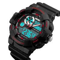 Men Outdoor Sports Watches Fashion Luxury Brand Wristwatches Male Waterproof Dual Display Alarm Chronograph Relogio Masculino