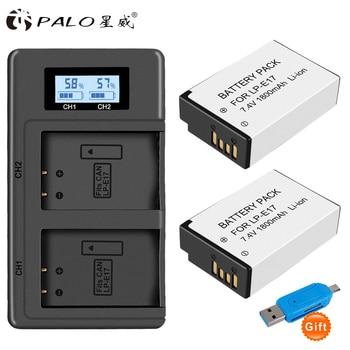 PALO 2 Pc LPE17 LP E17 LP-E17 Batterie + LCD USB Double Chargeur pour appareil photo Canon EOS 200D M3 M6 750D 760D T6i T6s 800D 8000D Baiser X8i Caméras