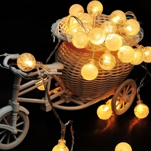 1x 2.5m 20 LED Pendant String Light Battery Waterproof Crystal Balls Bubble Christmas Wedding Decoration Luminary Twinkle Strip
