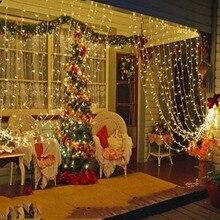 3 м x 3 м 300 светодиодный светильник для занавесок, светильник для наружной/домашней/садовой свадьбы, рождественской вечеринки, праздника