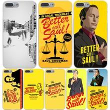 Лучше Вызова Саул Жесткий Прозрачный Чехол Case для iPhone 7 7 плюс 6 6 S Плюс 5 5S SE 5C 4 4S