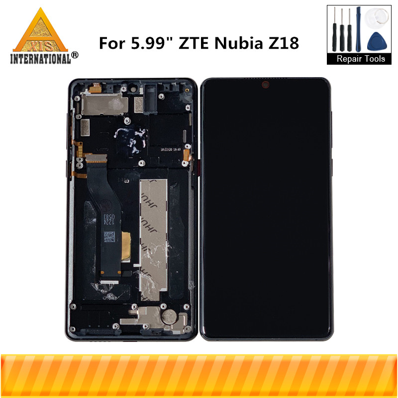 Original For 5.99 ZTE Nubia Z18 NX606J Axisinternational AMOLED LCD Display Screen With Frame+Touch Screen Digitizer AssemblyOriginal For 5.99 ZTE Nubia Z18 NX606J Axisinternational AMOLED LCD Display Screen With Frame+Touch Screen Digitizer Assembly