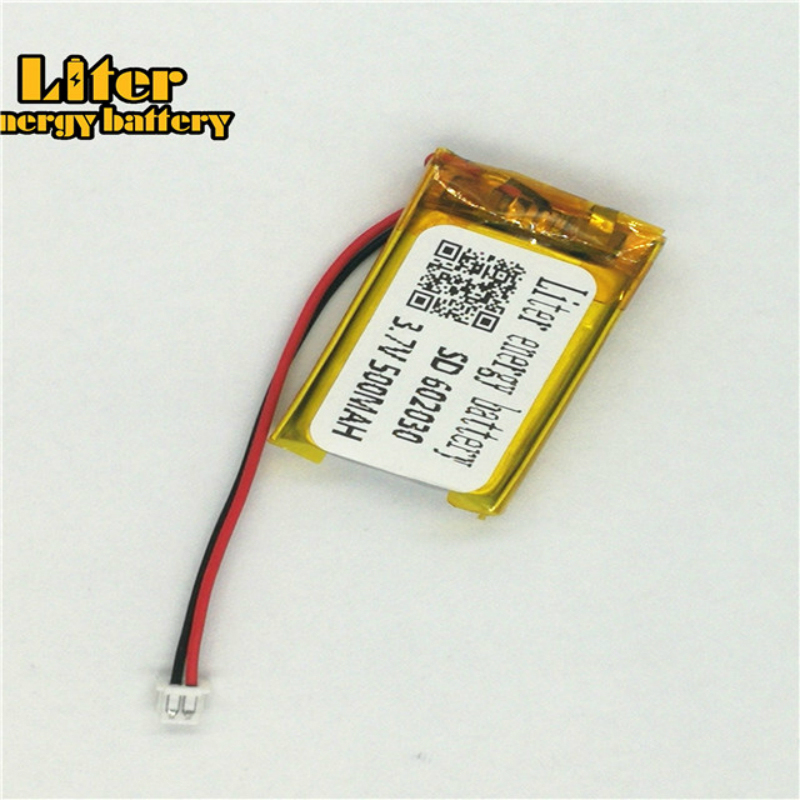 ZH1.25 3.7V 500mAh <font><b>602030</b></font> polymer lithium battery point reading pen with 1.25 audio recording plug image