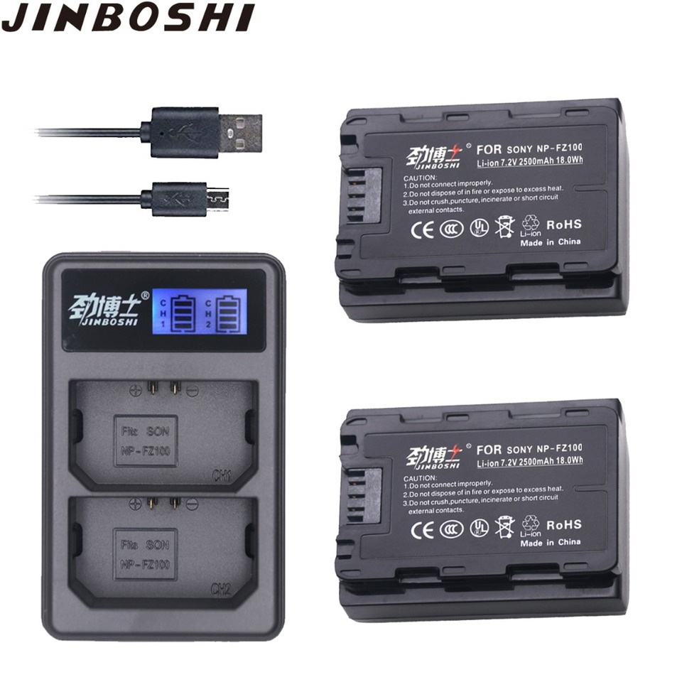 Dual USB Ladegerät für Sony Alpha 9 Alpha 9 II NP-FZ100