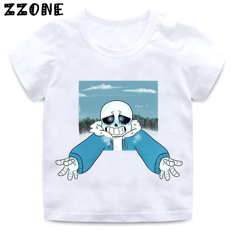 Girls and Boys Skull Brother Undertale Print Funny T shirt Kids - Children's Clothing - Photo 4