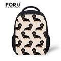 Детский рюкзак с рисунком Doxie Dog Dachshund  школьная сумка для девочек и мальчиков
